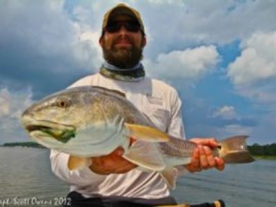 Fly Fishing redfish St Simons Island