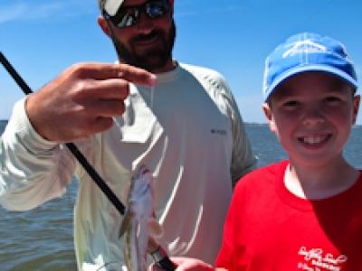 Kids fishing trips St. Simons Island